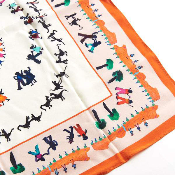 Silk Scarf - Dancing at Christmas
