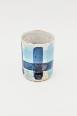 Takeawei Dip Cup - Blue Check