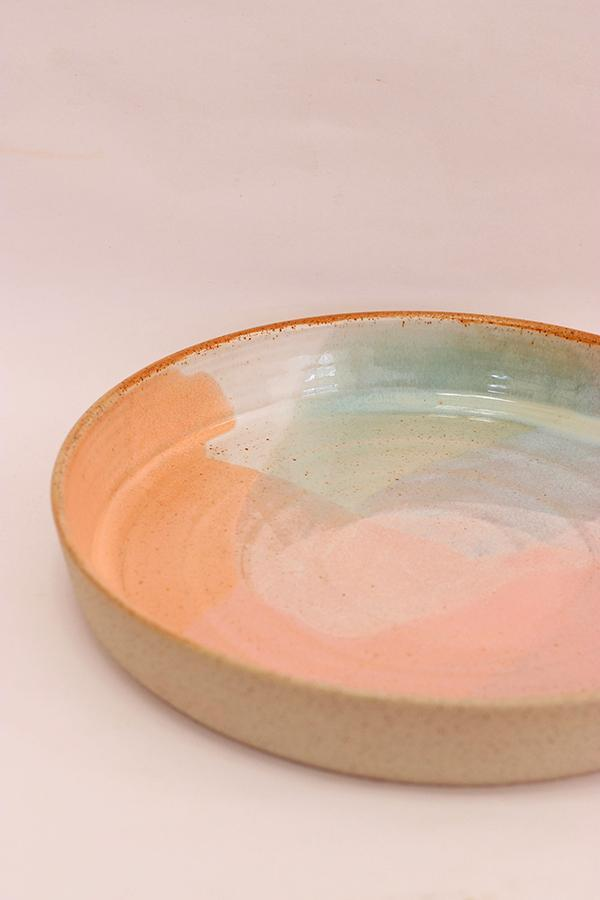 Shallow Dish - Large - Coral