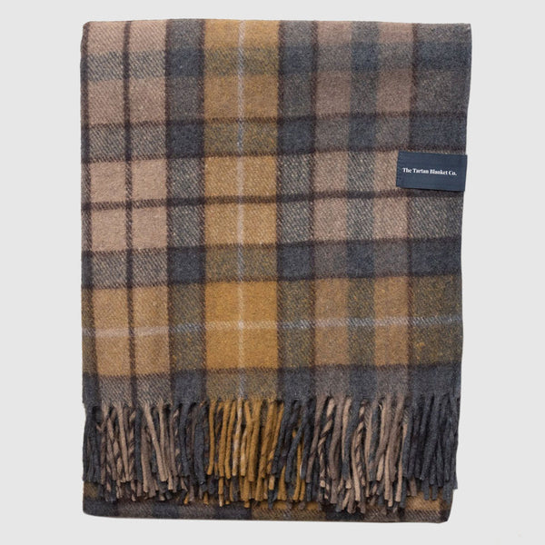 Recycled Wool Blanket - Buchanan Natural Tartan