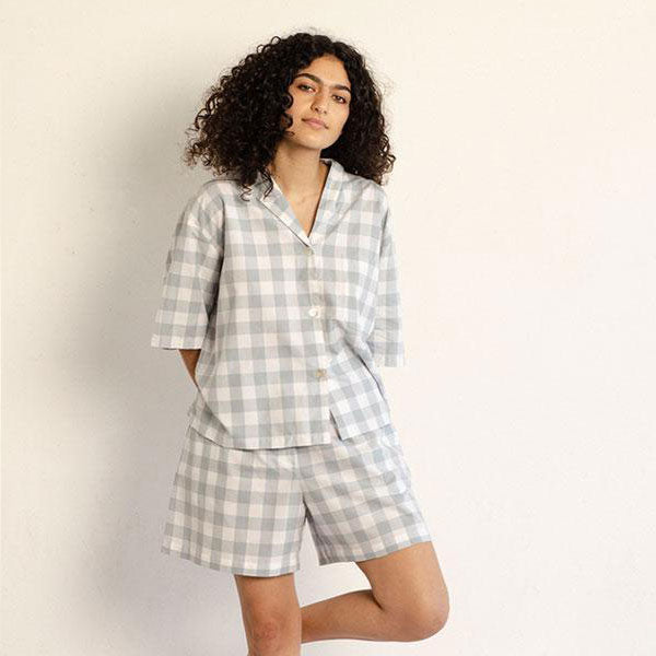 Camilla Set - Mist Gingham