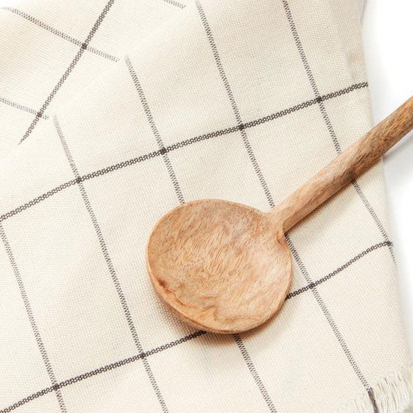 Cream Grid Napkins - Set of 4