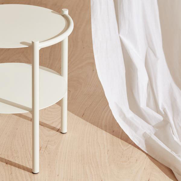 Double Side Table - White