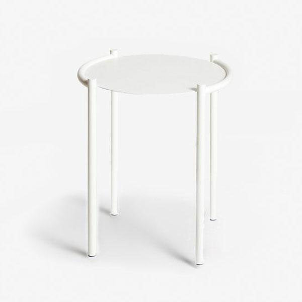 Single Side Table - White
