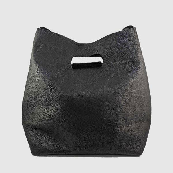 Lygon Luxe Leather Bag - Black
