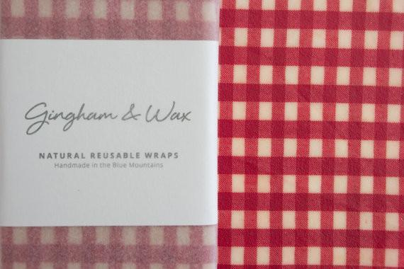 Gingham and Wax - Resuable Wax Cloth - Red