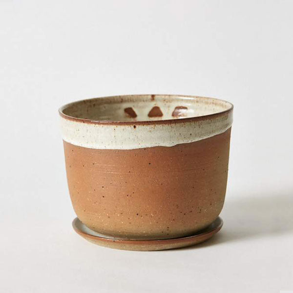 Planter and Saucer - Large - Wide - Desert