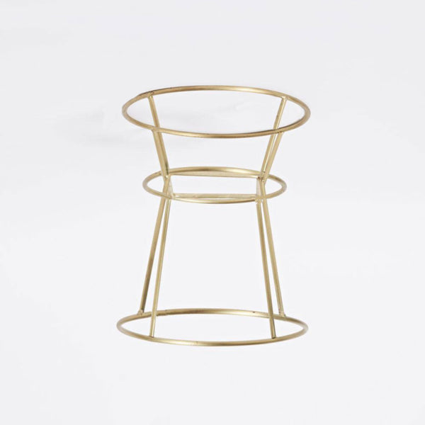 Imperfect - Brushed Brass Wire Planter - Tall