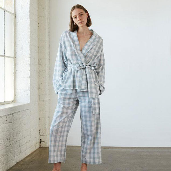 Wrap Set - Mist Gingham