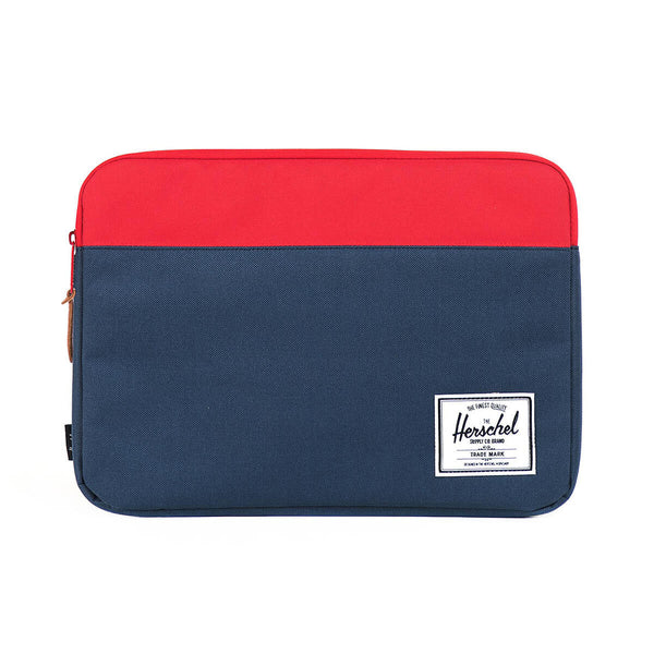 "Anchor MacBook 12""-13"" sleeve, navy/red"