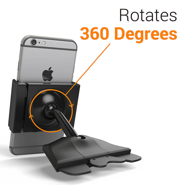 CD-slot car mount for iPhone