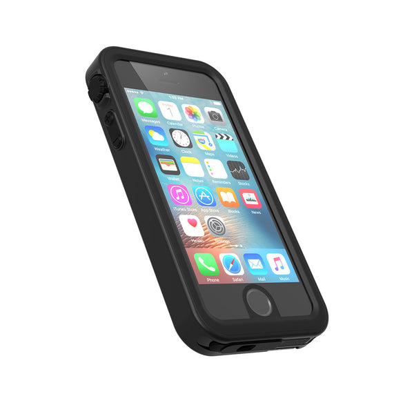 Waterproof iPhone SE case, black