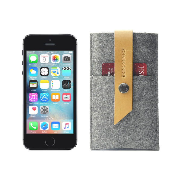 iPhone SE wallet, grey