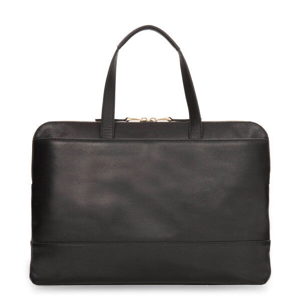"Reeves Slim Leather Brief 13"", black"
