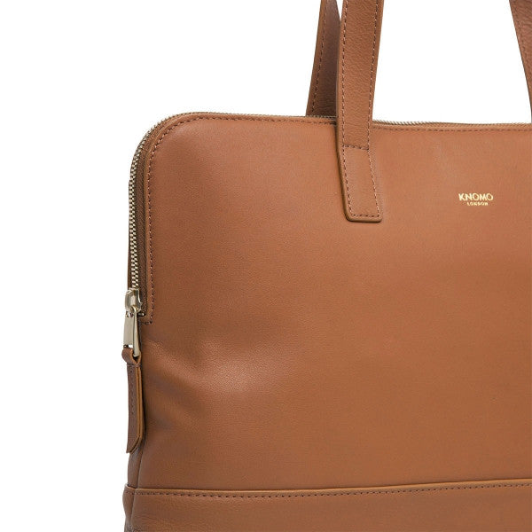 "Reeves Slim Leather Brief 13"", caramel"