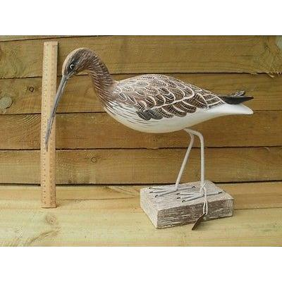 D289 Archipelago Wood Carving Curlew Walking Sea Birds