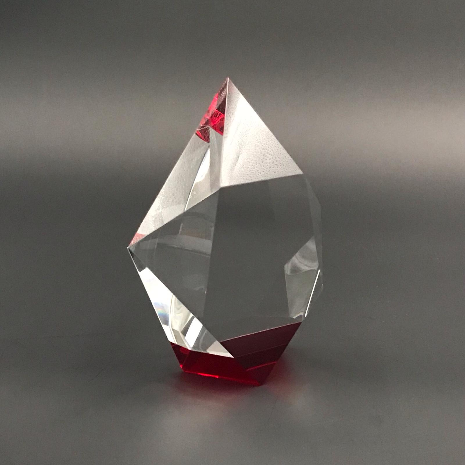 "6"" Star Crystal with Red  Base Trophy"