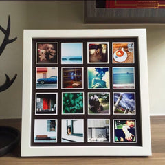 "Wooden Frame & Photo Magnet Prints - 16 pcs of (2"" x 2"") Photo Magnets"