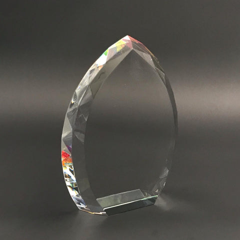 "8"" Rainbow Flame Crystal Trophy"