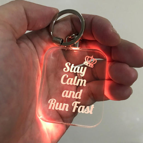 Laser Engraved LED Keychain