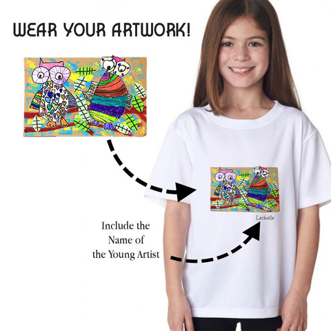Custom T-shirt Using Your Child's Artwork
