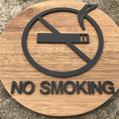 NO Smoking Wooden Signage