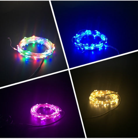 Fairy lights 10 meters with Power plug  (4 Colors Selection)
