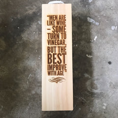 Laser Engraved Wine Crate
