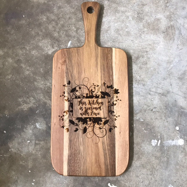 Customised Kitchen Board (Paddle Shape)