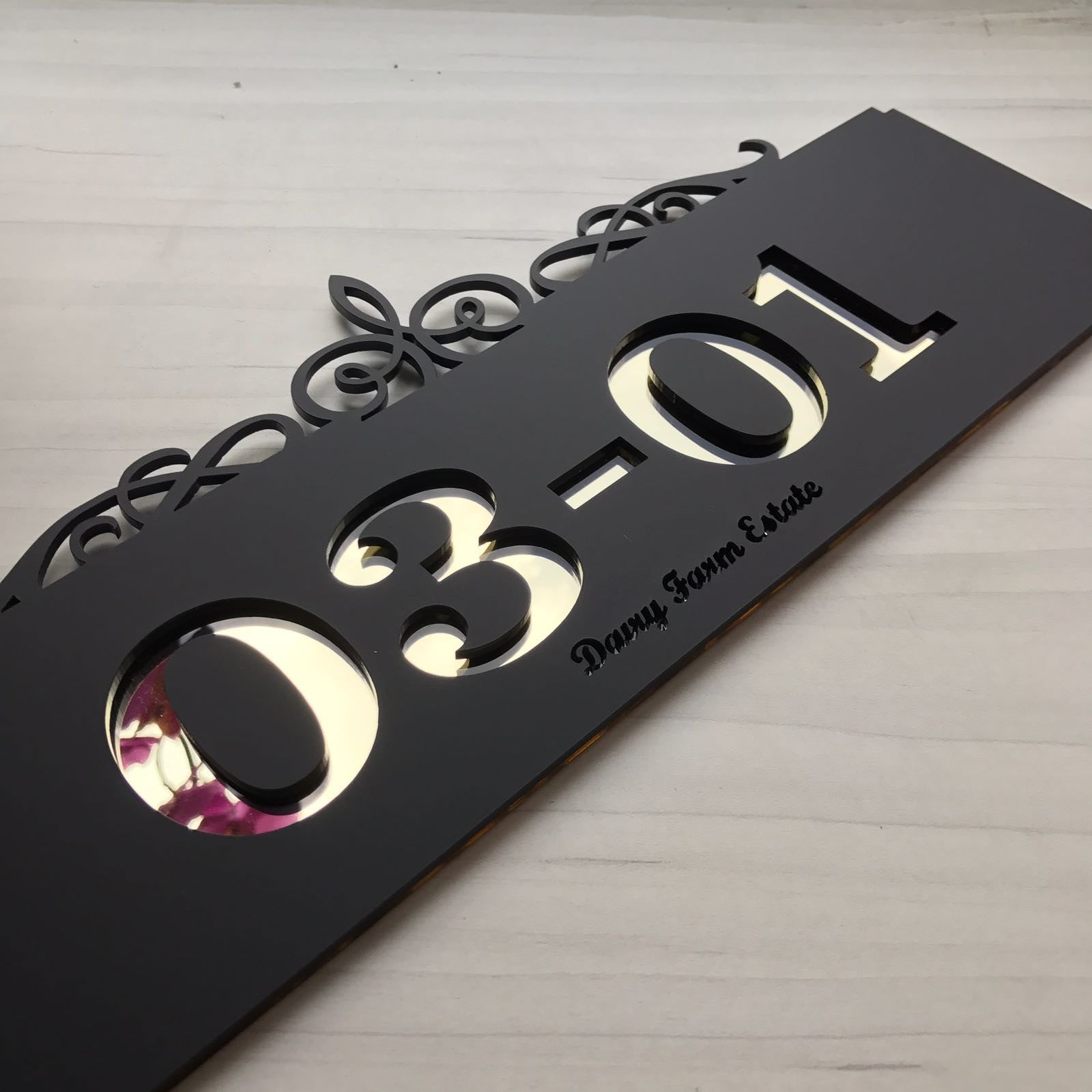 Customised Signage for Home