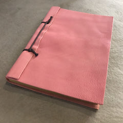 Custom Leather Notebook  ( Pink )