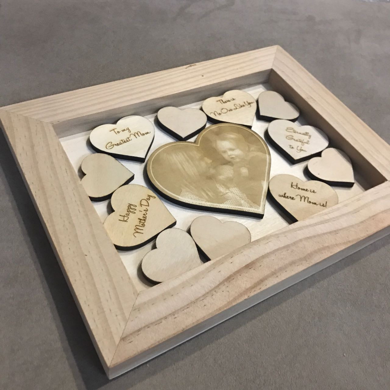 Custom Wooden Frame with Picture Engraving