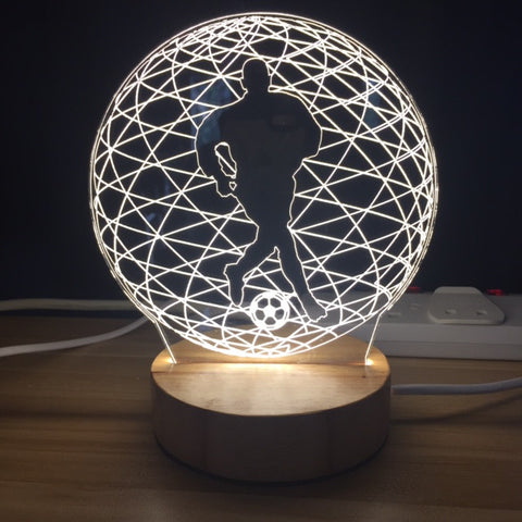 Custom LED Display with Custom Wooden Base ( Soccer Ball Design )