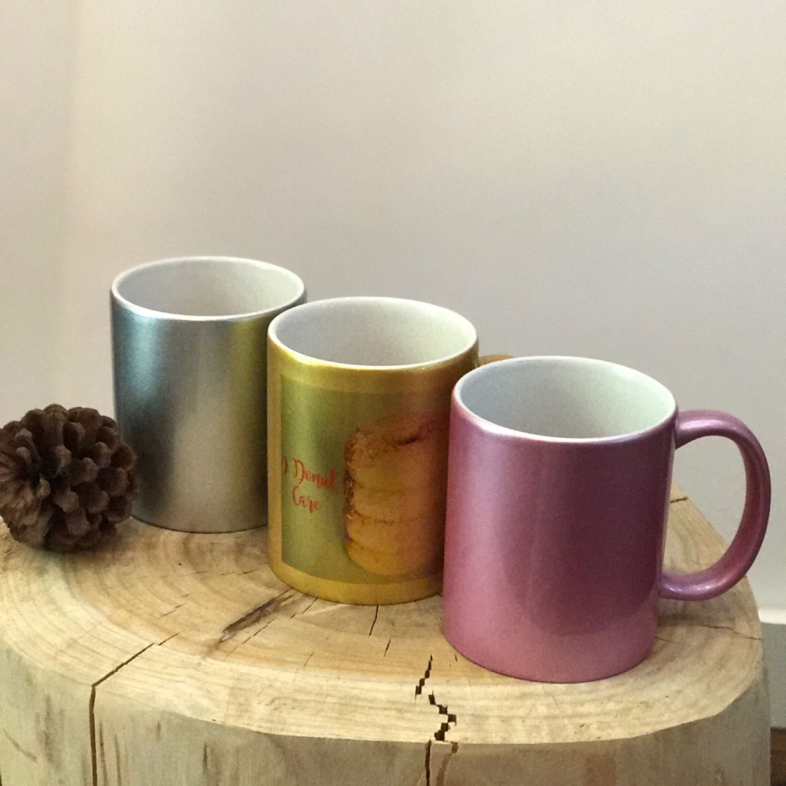 Shimmer Coloured Mug - Personalised with your own text
