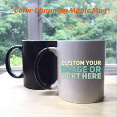 Color Changing Magic Mug - Personalised with your own text or image