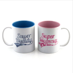 Two-Tone Mugs for Dad and Mom - 2 pieces