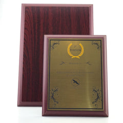Copy of Wooden Plaque with Gold / Silver Plate