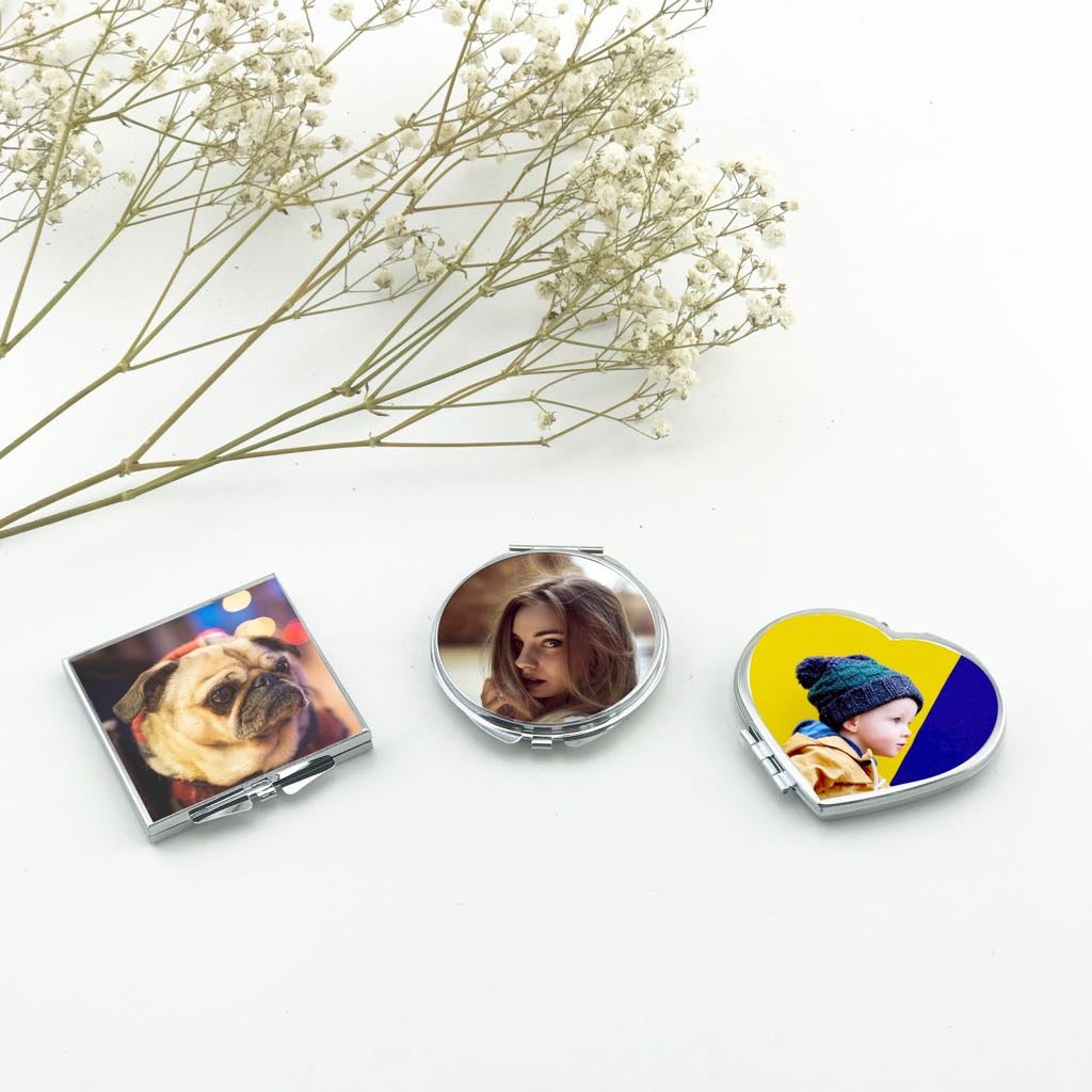 Compact Mirror With Your Custom Image