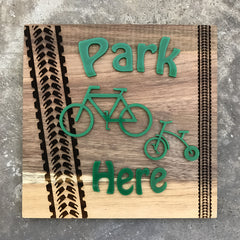 Household Signage ( Park your Bike Here )