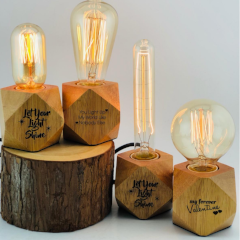 Rustic Desk Edison Light Lamp