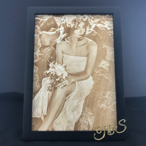 Wood Image Engraving on Frame