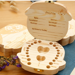 Baby Teeth Keepsake Wooden Box
