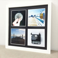 "Framed Photo Magnet Prints with 4 pcs of (4"" x 4"") Photo Magnets"