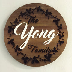 "Custom Wooden Signage (Design: The ""Surname"" Family)"
