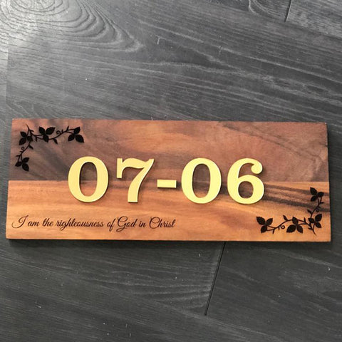 Custom Wooden Signage (Home Unit Number)