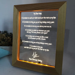 Acrylic Plaque Wedding Vows