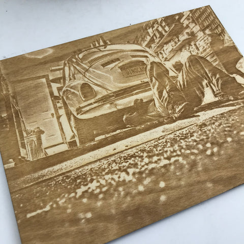 Image Engraving on Wood