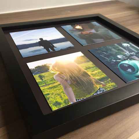 "Wooden Frame & Photo Magnet Prints - 4 pcs of (4"" x 4"") Photo Magnets"