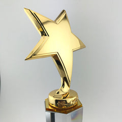 Alloy Star Crystal Trophy