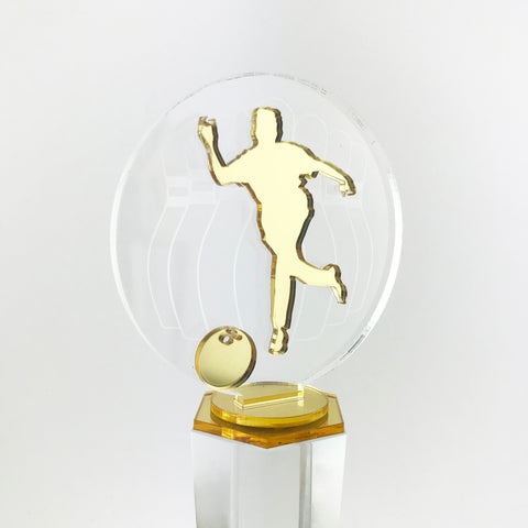 Personalised Sports Crystal Trophy